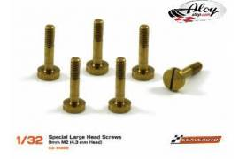 Special large head screws for suspension