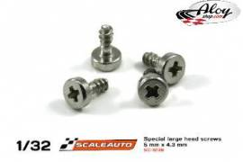 Special large head screws for body and motor mount