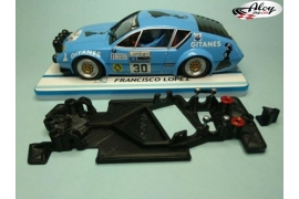 Chasis angular Black 3DP Fiat 131 Abarth Scalextric