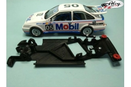 Chasis angular Black 3DP Peugeot 206 WRC Scalextric