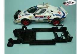 Chasis lineal black Lancia Stratos Team Slot