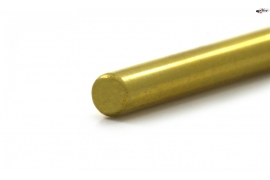 "Calibrated steel shaft Hard Gold 2,38 (3/32"") x 50 mm."