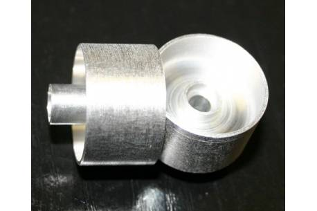 1:24 21 mm aluminum RIM without throat for bearings