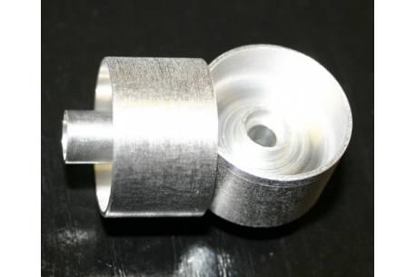 LLanta aluminio 1:24 de 21mm sin garganta para rodamientos