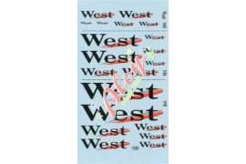 Decal  West 1/43 - 1/24 - 1/18