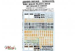 Decal CRP 1/32 New Zealand & German Rally plates 2010