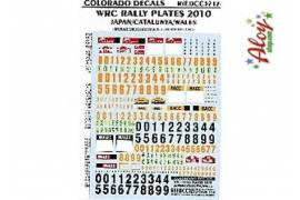 Decals CRP 1/32 Japan-Catalunya-Walles Rally plates 2010