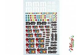 Decal M & M  1/24 - 1/32