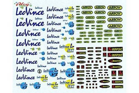 Decal LeoVince, Akrapovic, Arrow 1/32