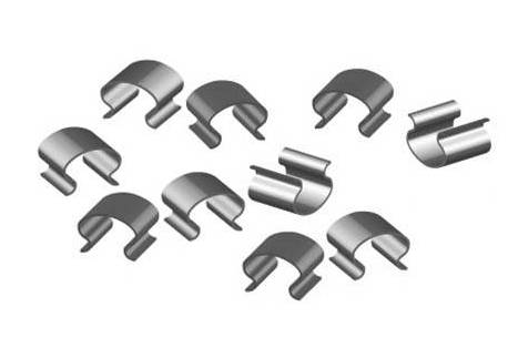 Tracks bulk fastening clips - Bag of 25 units