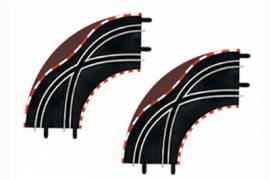 Cambio carril en curva  1/90º Carrera GO!!! 1/43 (x2)