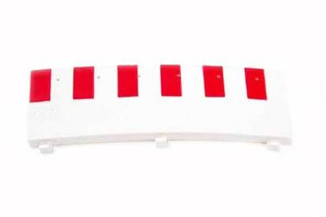 1/2 Outer edge for super exterior curve. White (8)