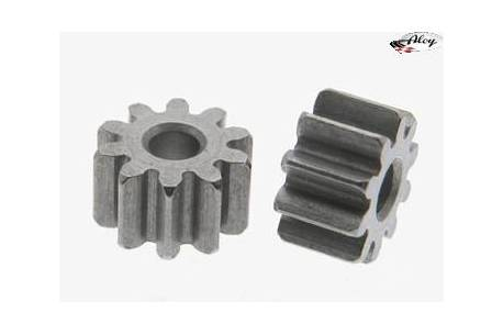 Pinion 10 d. M50 steel for 2mm shaft