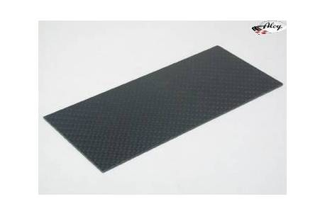 Plancha fibra carbono 140x62x1mm