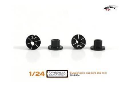 Casquillos sujección H 2.5mm Aluminio Non concentric.
