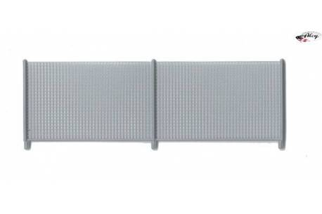 Silver gray fence gate (x1)