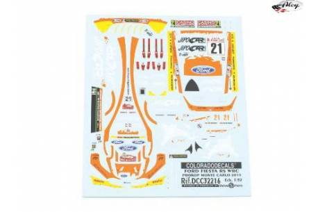 Decals 1/32 Ford Fiesta WRC Jipocar
