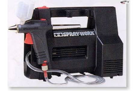Airbrush compressor set