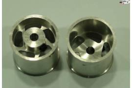 Aluminium Wheels 17 x 15 mm (4)