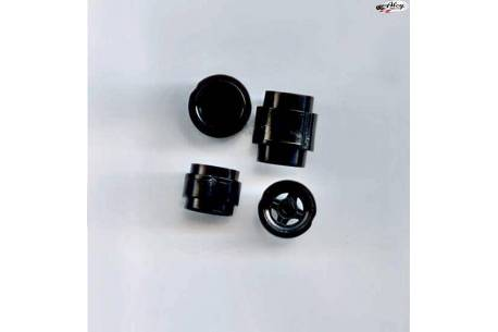 Kit llantas F1 en crudo color negro