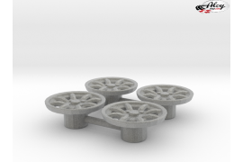 Minilite inserts for wheel of 14 mm. diameter