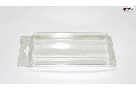 Plastic box size : 160 x 70 x 30 mm.