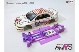 Chasis en línea 3DP Subaru Impreza WRC MSC/Scaleauto