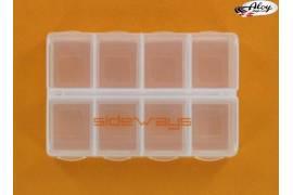 Caja de 8 compartimentos con cierre