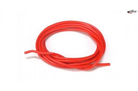 Cable 1mm. rojo siliconado