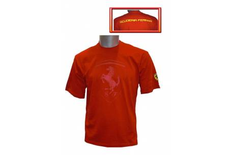 t-shirt red Ferrari c/confronting.
