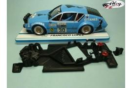 Chasis angular Black 3DP Fiat 131 Abarth Scalextric