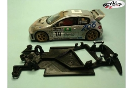 AW angular chassis Black 3DP Fiat 131 Abarth SCX