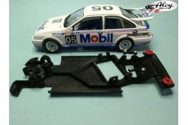Chasis angular Black 3DP Peugeot 206 WRC Scalextric