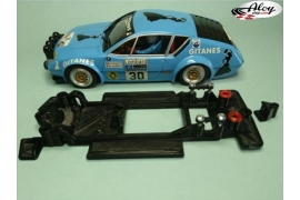 In Line chassis Black 3DP Porsche 911 Carrera SCX