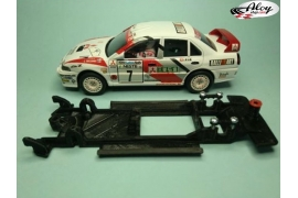 In Line chassis Black 3DP Mitsubishi Evo VII WRC SCX