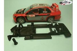 Chasis lineal Black 3DP Mitsubishi Evo VII WRC Scalextric