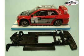In Line chassis Black 3DP Mitsubishi Evo VIII WRC SCX