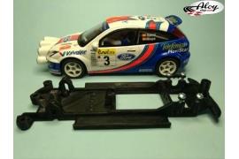 In Line chassis Black 3DP Mitsubishi Evo VIII WRC Ninco