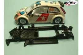 In Line chassis Black 3DP Ford Focus WRC SCX