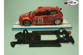 In Line chassis Black 3DP Ford Fiesta S1600 SCX