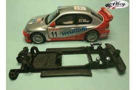 In Line chassis Black 3DP Ford Focus WRC Ninco