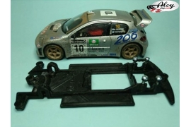 In Line chassis Black 3DP BMW M3 E30 Fly