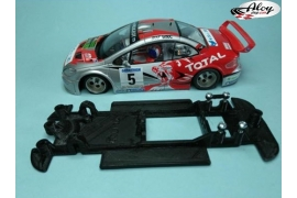 In Line chassis Black 3DP Peugeot 206 WRC Scalextric