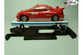 In Line chassis Black 3DP Peugeot 307 WRC Scalextric