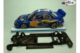 In Line chassis Black 3DP Subaru Impreza WRC SCX