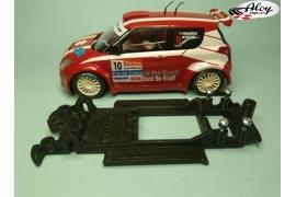 In Line chassis Black 3DP Skoda Octavia WRC SCX