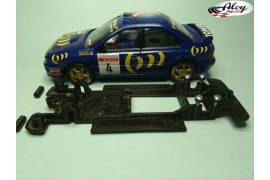 In Line chassis Black 3DP Suzuki Swift S1600 Scalextric SCX
