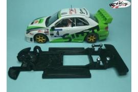 In Line chassis Black 3DP  Subaru Impreza Gr. A SCX