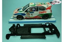 Chasis lineal Black 3DP Subaru Impreza WRC 2001 Scalextric