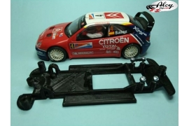 In Line chassis Black 3DP Subaru Impreza WRC 2001 SCX